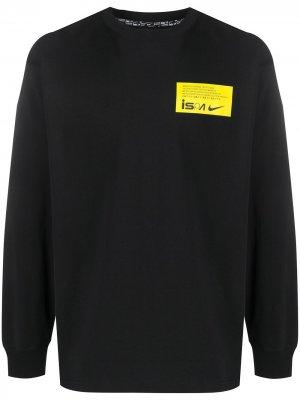 Толстовка с логотипом Nike. Цвет: черный