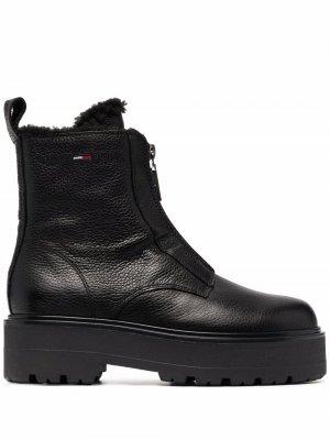 Массивные ботинки с меховой подкладкой Tommy Jeans. Цвет: черный