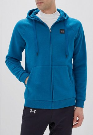 Толстовка Under Armour RIVAL FLEECE FZ HOODIE. Цвет: синий