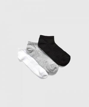 Комплект коротких носков для фитнеса O`Stin. Цвет: светло-серый