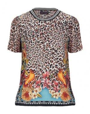 Блузка HALE BOB. Цвет: бежевый