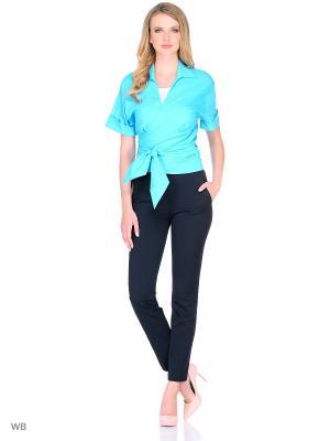 Блузка IQdress. Цвет: бирюзовый