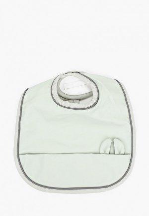 Слюнявчик Elodie Mineral Green. Цвет: зеленый