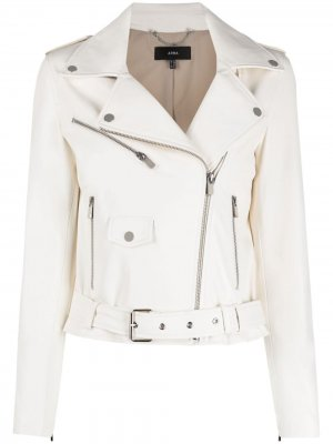 Байкерская куртка Arma. Цвет: белый
