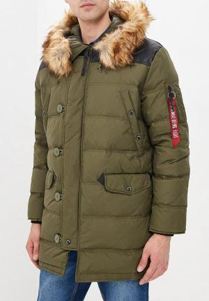 Пуховик Alpha Industries AL507EMDBXS1. Цвет: хаки