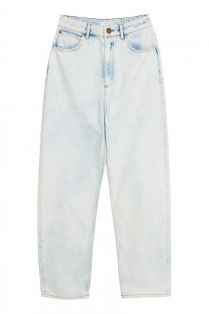 Укороченные выбеленные джинсы Sandro. Цвет: голубой