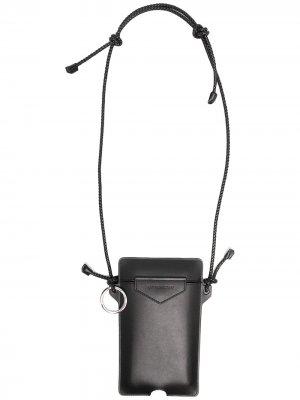 Мини-сумка со шнурком на шею Givenchy. Цвет: черный