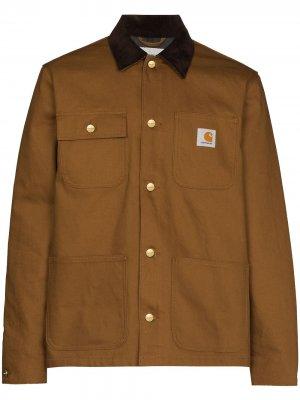 Куртка-рубашка Michigan с нашивкой-логотипом Carhartt WIP. Цвет: коричневый