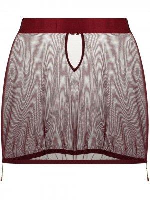 Сетчатая юбка Merida Bordelle. Цвет: красный