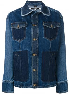 Объемная джинсовая куртка McQ Alexander McQueen. Цвет: синий