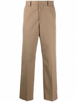 Прямые брюки строгого кроя Acne Studios. Цвет: нейтральные цвета