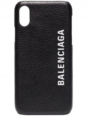 Чехол Cash для iPhone X Balenciaga. Цвет: черный