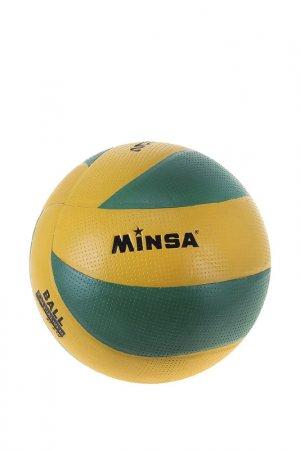 Мяч Minsa. Цвет: желтый, зеленый