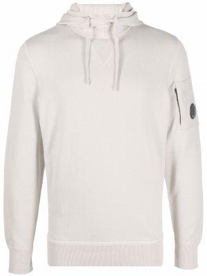 Logo-patch pullover hoodie C.P. Company. Цвет: нейтральные цвета