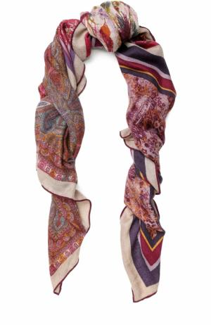 Кашемировая шаль 4 Scialli с принтом Loro Piana. Цвет: бордовый