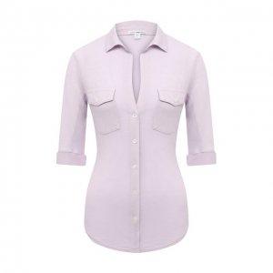 Хлопковая рубашка James Perse. Цвет: фиолетовый