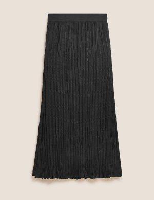 Плиссированная юбка-комбинация длиной макси Autograph. Цвет: черный