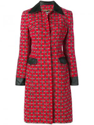 Пальто с принтом и ремнем на пряжке Dolce & Gabbana Pre-Owned. Цвет: красный