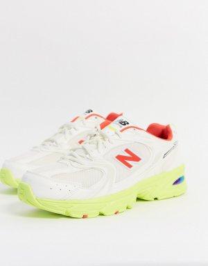 Желто-белые кроссовки 530-Серый New Balance