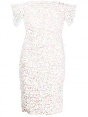 Свадебное платье Wallis с пайетками Tadashi Shoji. Цвет: белый
