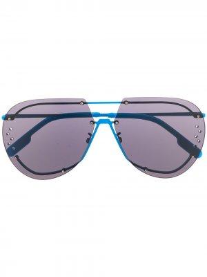 Солнцезащитные очки-авиаторы Kenzo. Цвет: синий