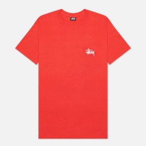 Мужская футболка SS Basic Stussy. Цвет: красный