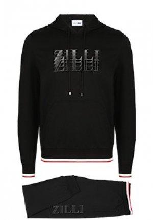Спортивный костюм ZILLI. Цвет: черный