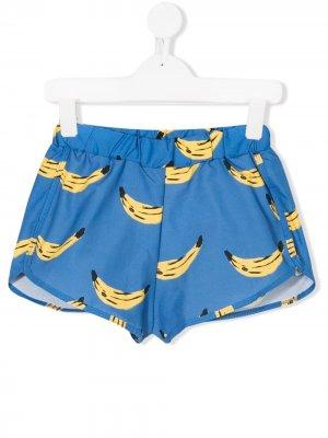 Шорты для плавания с рисунком из бананов Bobo Choses. Цвет: синий