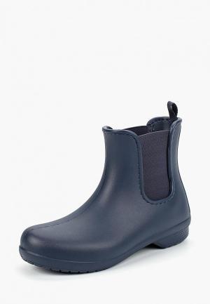 Резиновые ботинки Crocs. Цвет: синий