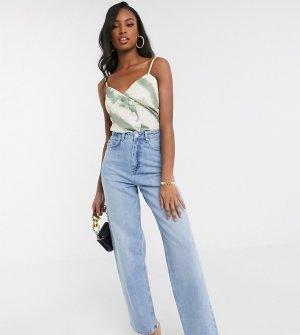 Выбеленные свободные джинсы с завышенной талией ASOS DESIGN Tall-Синий Tall