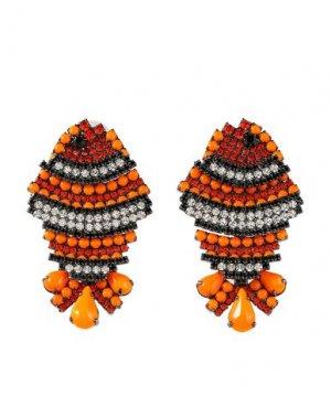 Серьги ELIZABETH COLE. Цвет: оранжевый