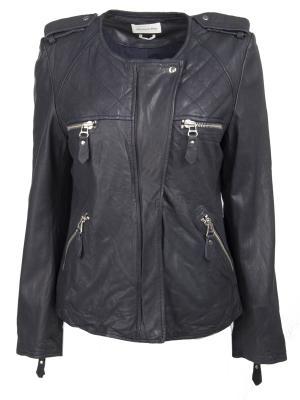 Кожаная куртка ISABEL MARANT. Цвет: синий