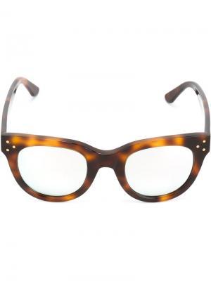 Солнцезащитные очки She Loves You Spektre. Цвет: коричневый
