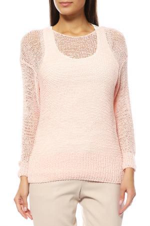 Комплект: пуловер, топ Comma. Цвет: розовый, белый