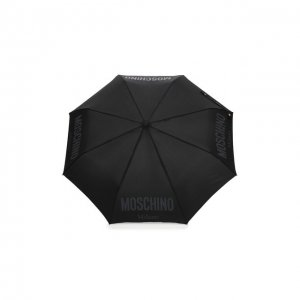 Складной зонт Moschino. Цвет: чёрный