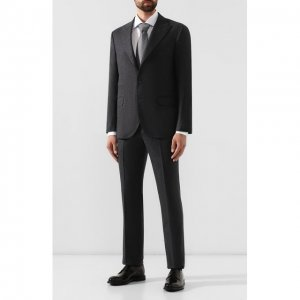 Шерстяной костюм Brunello Cucinelli. Цвет: серый