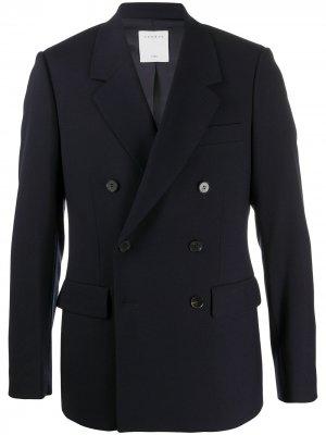 Двубортный пиджак Sandro Paris. Цвет: синий