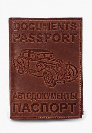 Обложка для документов Forte St.Petersburg. Цвет: коричневый