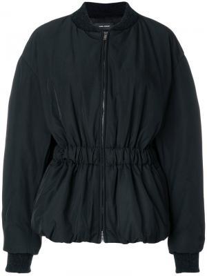 Короткая куртка-бомбер Dex Isabel Marant. Цвет: чёрный