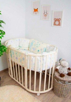 Бортик для детской кровати Сонный Гномик Акварель