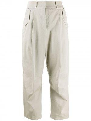 Укороченные брюки чинос Fabiana Filippi. Цвет: нейтральные цвета