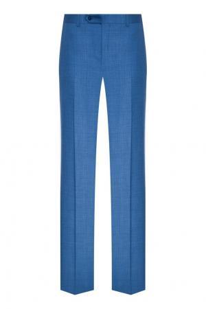 Синие классические брюки Canali. Цвет: голубой