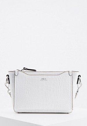 Сумка Polo Ralph Lauren. Цвет: белый