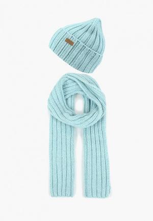 Шапка и шарф Ferz. Цвет: голубой
