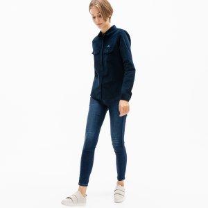 Рубашка Lacoste. Цвет: темно-синий