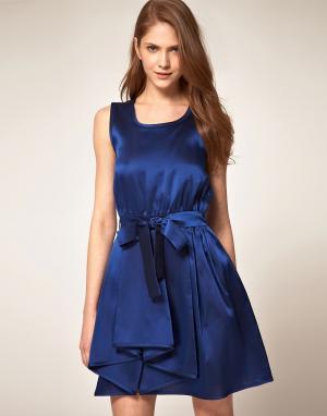 Платье для выпускного Boutique By Jaeger Valentine. Цвет: синий