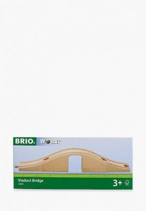 Конструктор Brio Ж/д виадук с аркой, длина 36 см. Цвет: бежевый