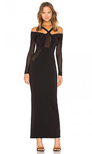 Макси платье elisha Michael Costello. Цвет: черный