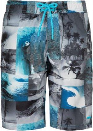 Шорты пляжные для мальчиков , размер 158 Termit. Цвет: голубой