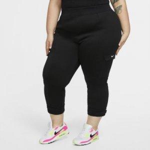 Женские брюки из полиэстера Nike Sportswear Swoosh (большие размеры) - Черный